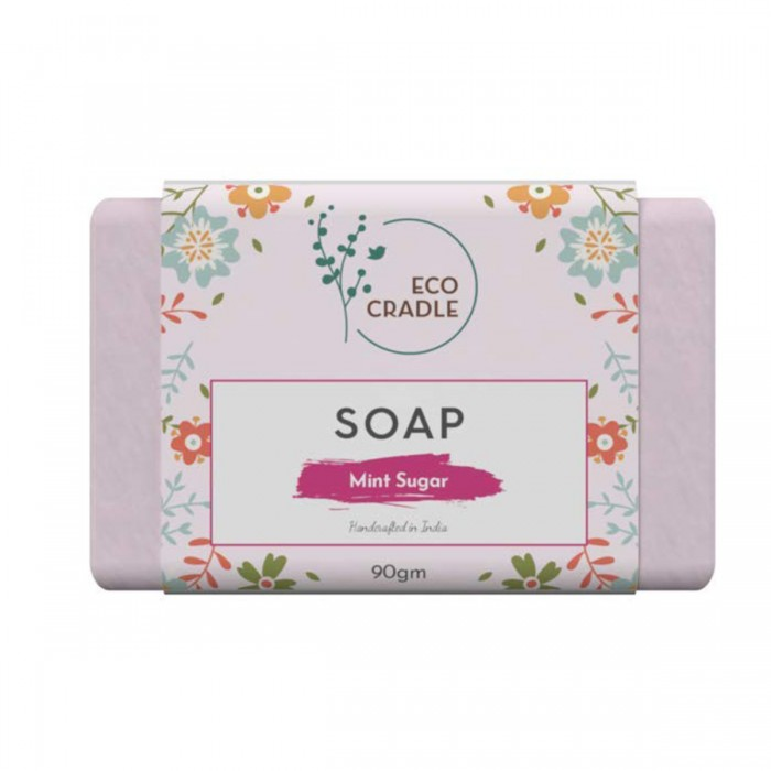 Ecocradle Refreshing Mint Sugar Soap, 90Gm
