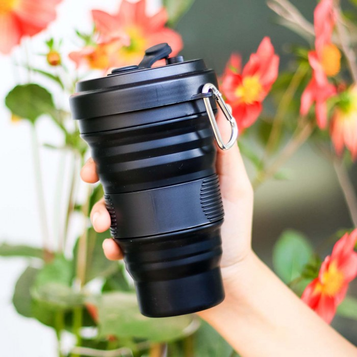 For Earth's Sake Collapsible Coffee Cup