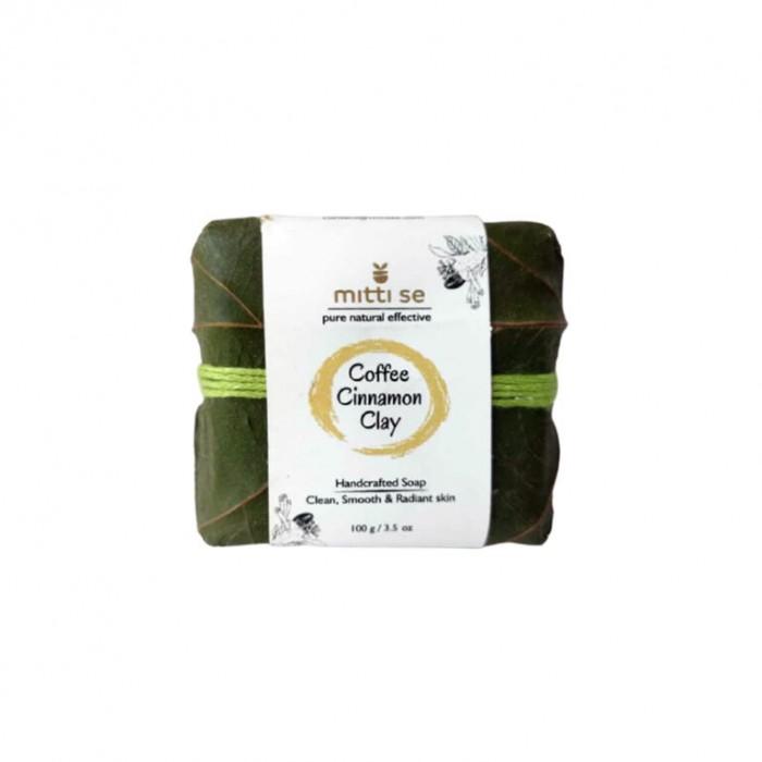 Mitti Se Coffee Cinnamon Clay Handcrafted Soap (100 gm)