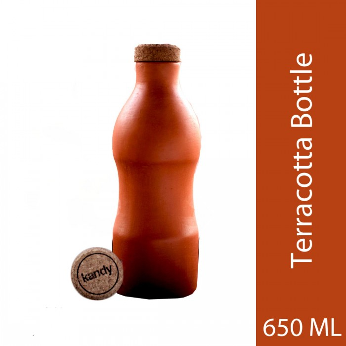 Kandy Ecofriendly Teracotta Water Bottle With Capacity 650 Ml