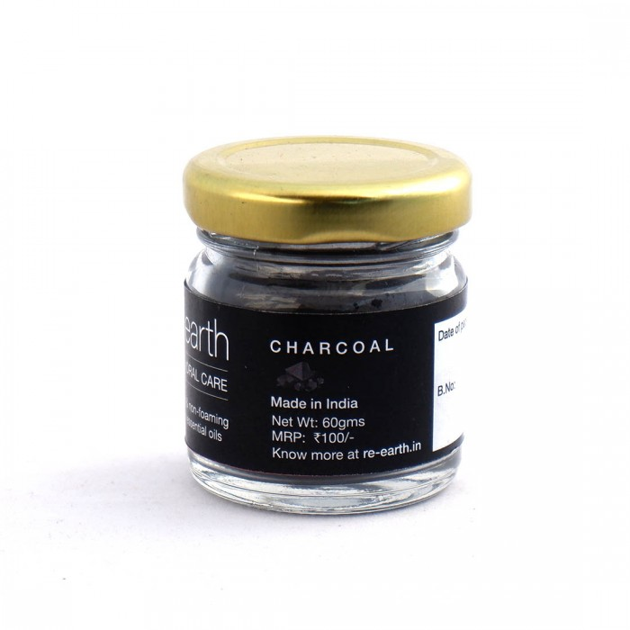 Re Earth Activated Charcoal Natural Tooth Paste 50gms