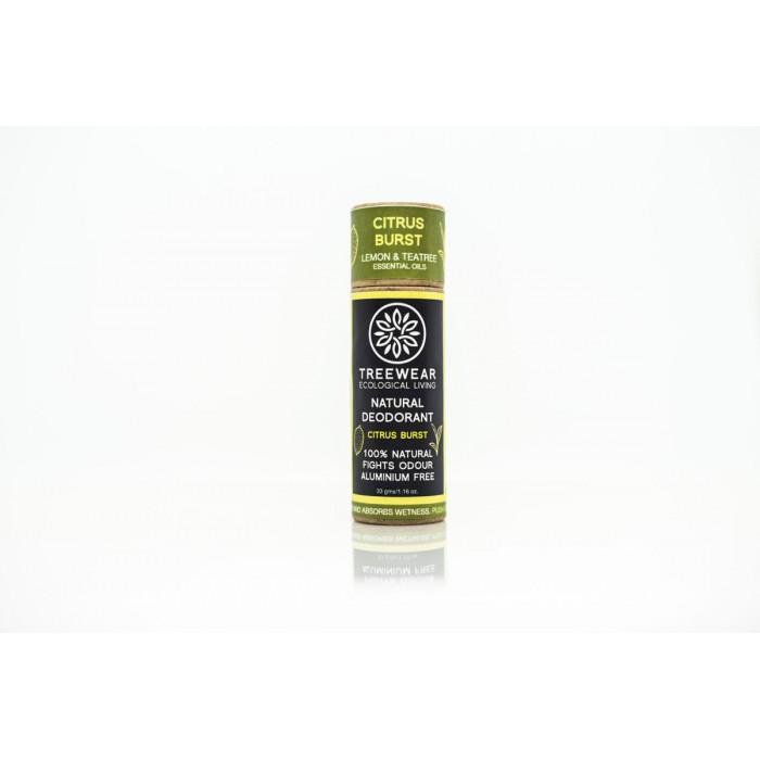 TreeWear Citrus Burst Natural Deodorant 30gm