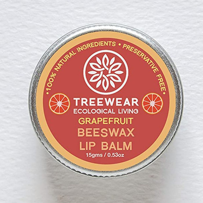 TreeWear Ecological Living Beeswax Lip Balm - Grapefruit