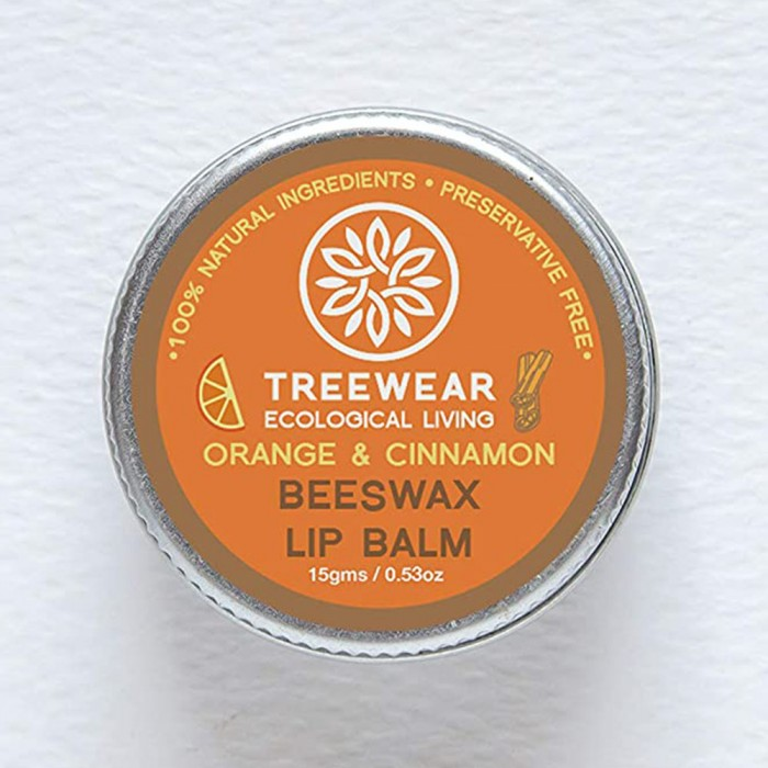 TreeWear Ecological Living Beeswax Lip Balm - Orange and Cinnamon