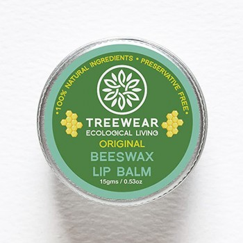 TreeWear Ecological Living Beeswax Lip Balm - Original