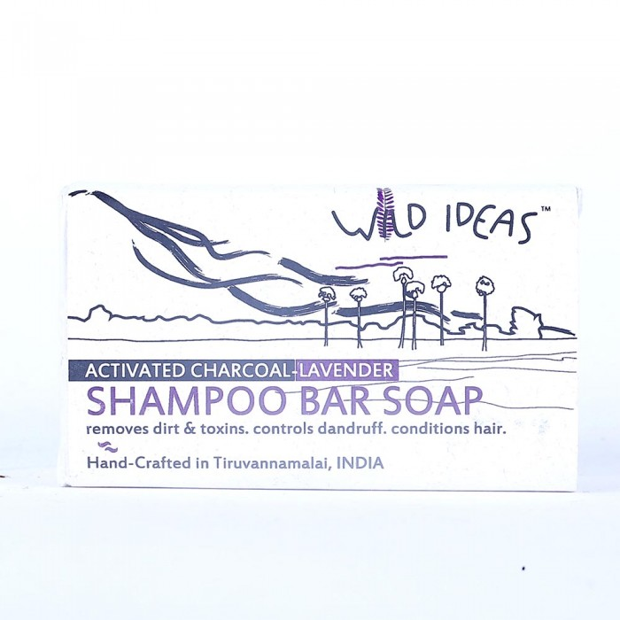 Wild Ideas Shampoo Bar Soap: Activated Charcoal & Lavender