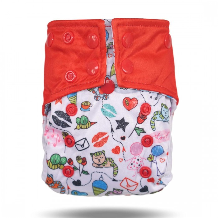 A Toddler Thing - Cover Diaper New - Red Love