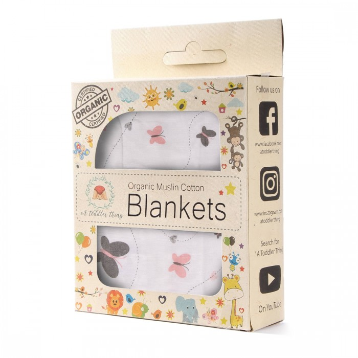 A Toddler Thing - Muslin Blankets -P Butterfly