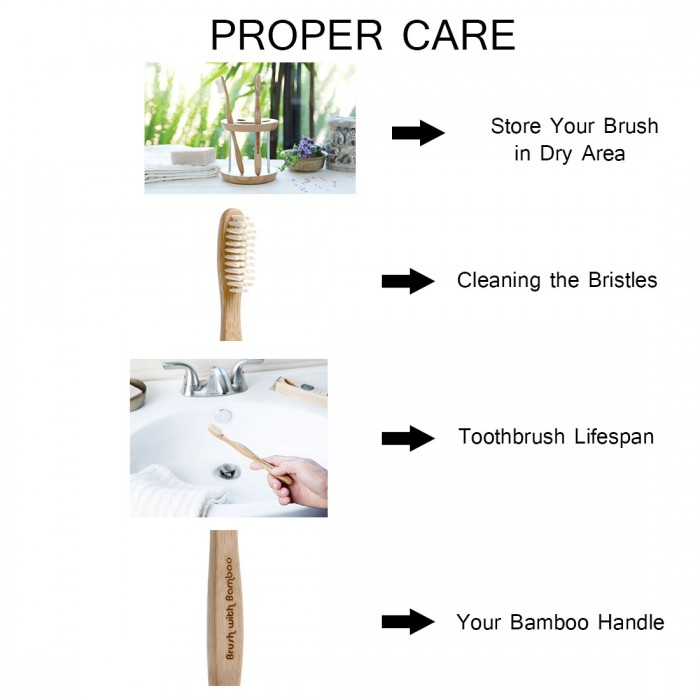 Goli Soda Bamboo Toothbrush - Bpa-Free, Vegan, Verified Non-Toxic - Set of 3