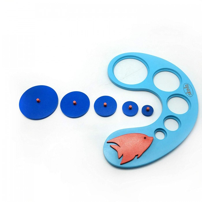 Skola Toys Fishy Circles - Size & Diameter Gradation