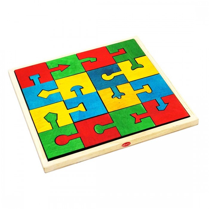 Skola Locking Blocks Interlocking Jigsaw Puzzles (Multicolour)