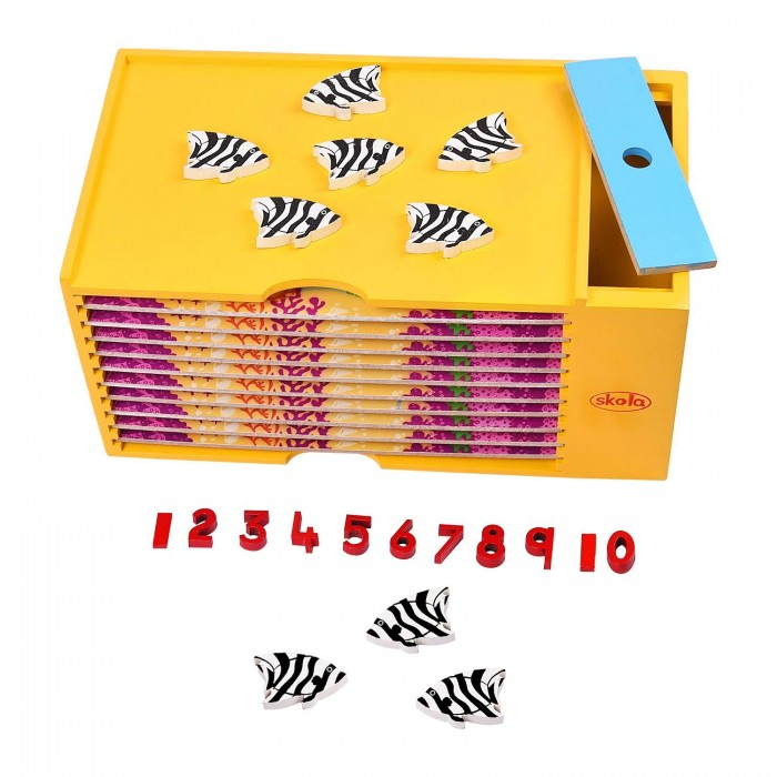 Skola Toys Counting Fish - Match Quantities to Numbers
