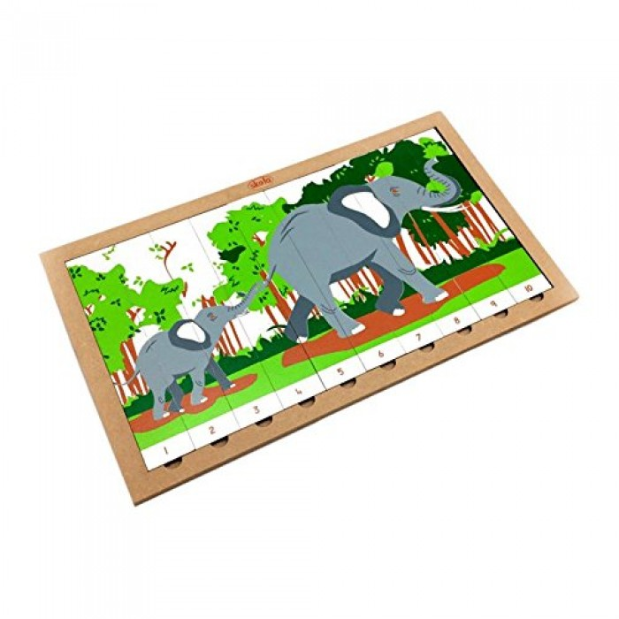 Skola Toys Sequencing Puzzle Elephant in a Jungle - Number system from 1 to 10