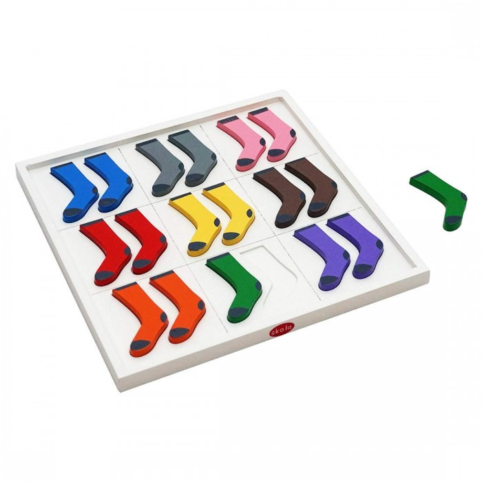 Skola Wood Toys Sock Twins Colours, Pair, Match and Learn