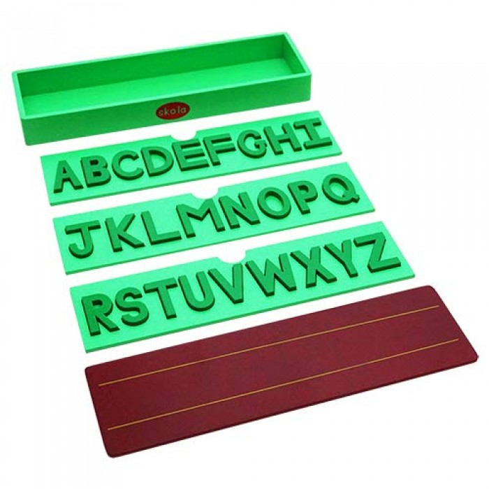 Skola Alphabet Puzzle Trays - Upper Case Capital Letters