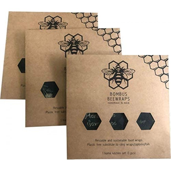 Bombus Beewraps Forest-Cube Beeswax Foodwrap Pack (3 pc)