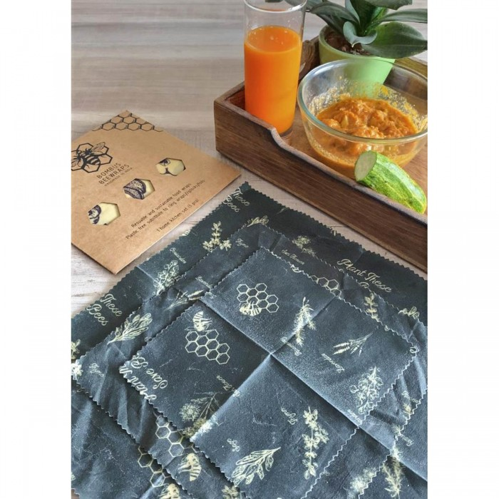 Bombus Beewraps Forest-Kitchen Beeswax Foodwrap Pack (3 pc)