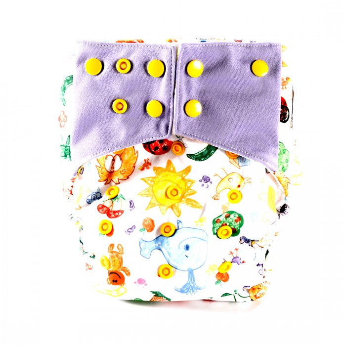 Bum 2 Bum Kidslove Bum One Size Cover Diaper With 2 Inserts