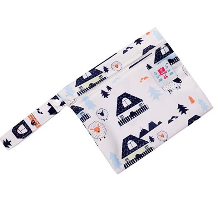 Bum 2 Bum White Snow Mini Pul Wet Bag