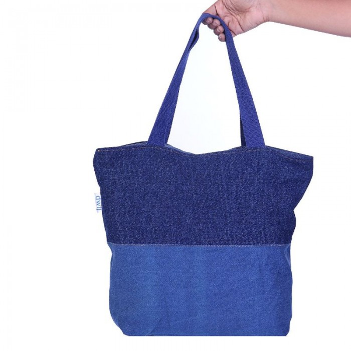 dwij Blissful Bag Made Up Of Upcycled Jeans - Eco Friendly / Unique / Trendy / Washable / Durable