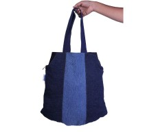 dwij Peppy Bag Made Up Of Upcycled Jeans - Eco Friendly / Unique / Trendy / Washable / Durable