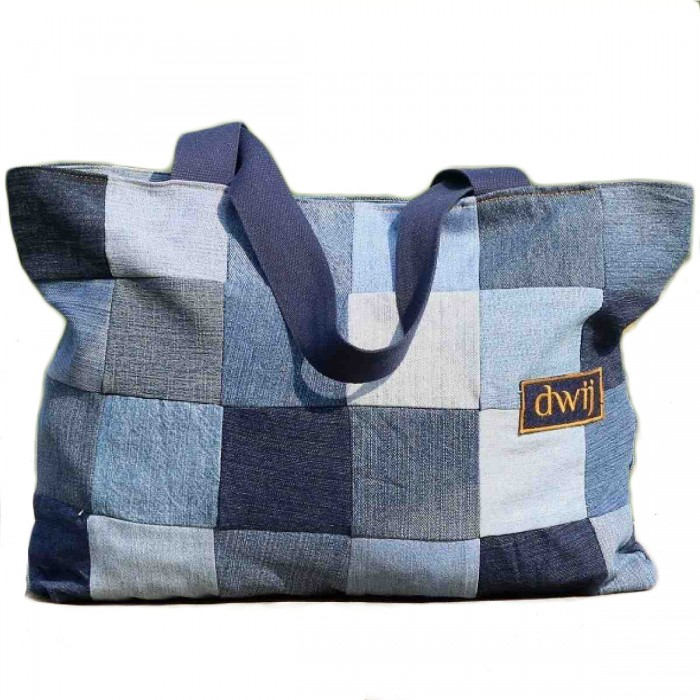 Dwij Chequered Tote