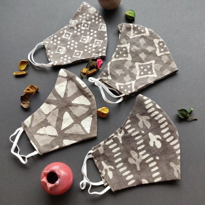 Kashi High Nose 3 Layered Face Masks - Pack of 3