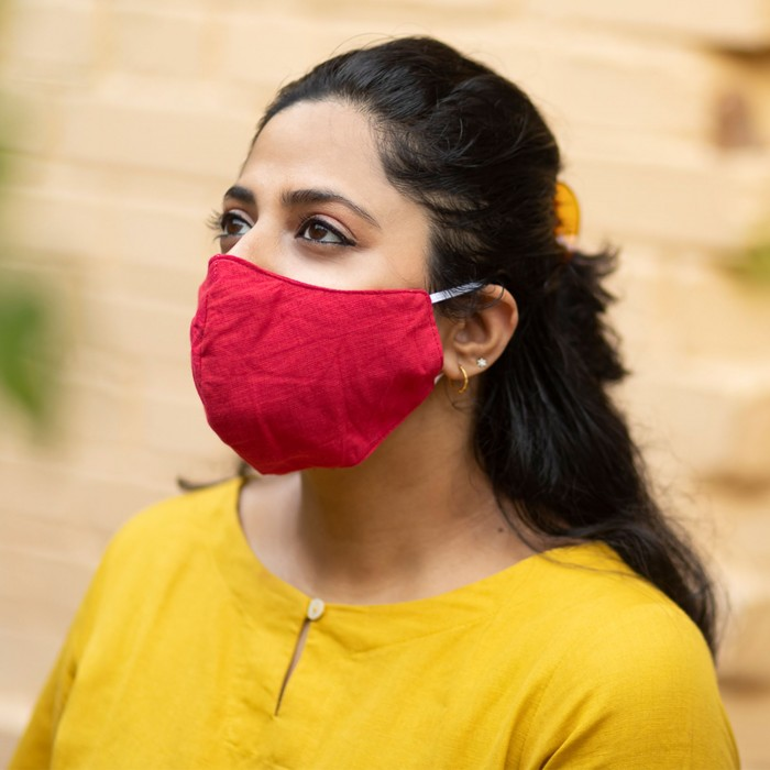 Khadi Solids High Nose 2 Layered Face Masks - Pack of 3