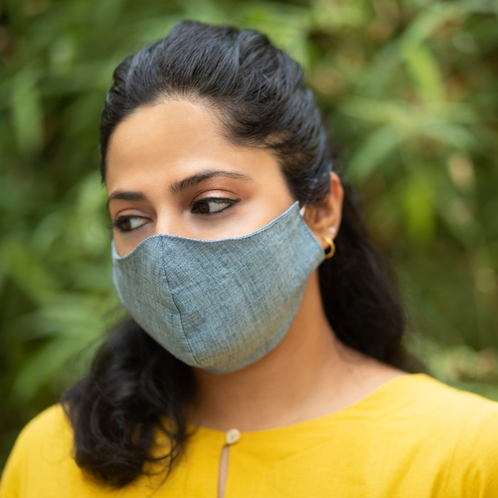 Khadi Solids High Nose 2 Layered Face Masks - Pack of 5