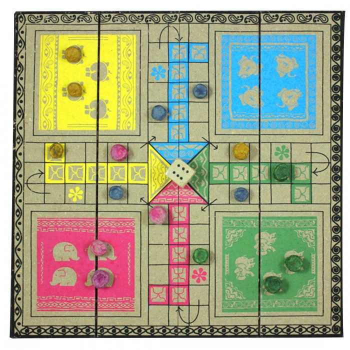 Haathi Chaap Ludo - Made From Recycled Elephant Dung Paper