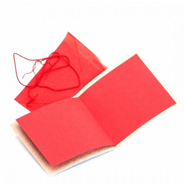 Haathi Chaap 13*13Cm Cards-Riverside Red Elephants- Recycled Elephant Dung Paper