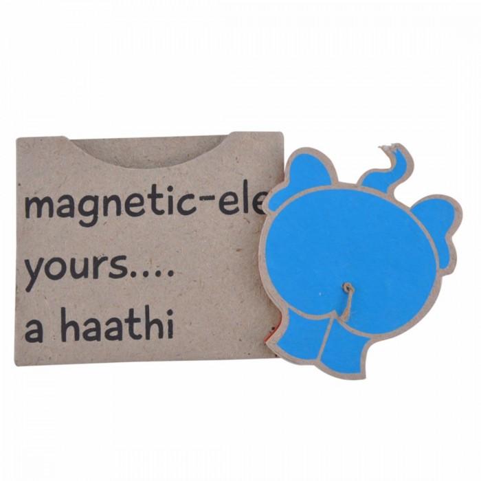 Haathi Chaap Elephant Bum Blue Coloured Fridge Magnet - Ele Poo Paper