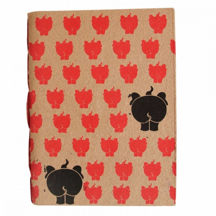 Haathi Chaap Soft Cover Orange Notebook Large / 30 pages - Elephant Poo Paper