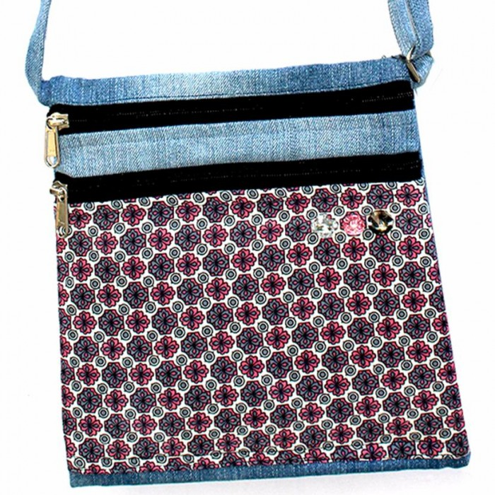 Bluemadegreen-Sling Bag-Fabric Patchwork