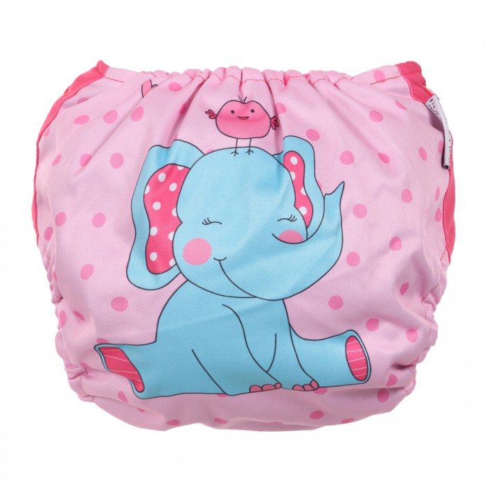 Polka Tots Reusable Cloth Diapers for Babies Washable & Size Adjustable, Bamboo Charcoal - Available in Multi-color