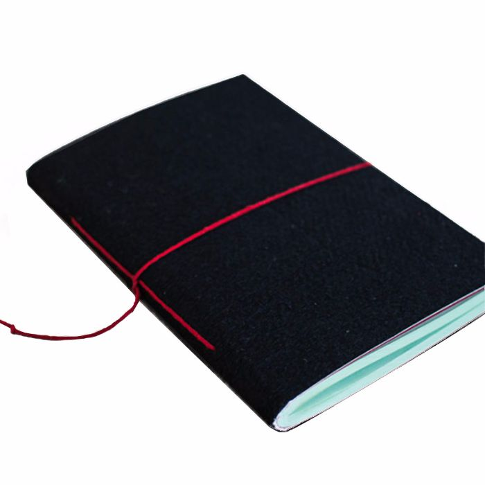 Studio ABCD Saddle Stitch Felt Notebooks A6-Upcycled Tyre Tube and Recycled Felt