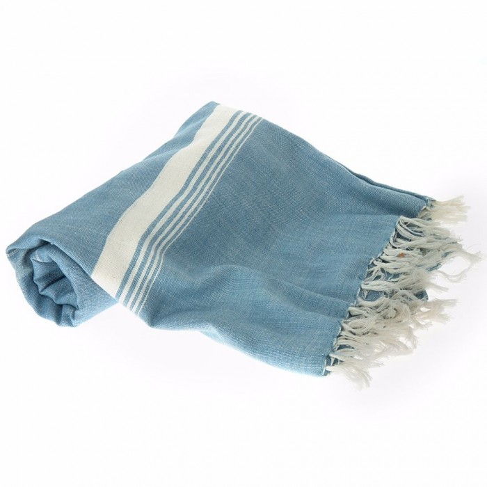 Conscience Blue Bath Towel / Natural Dye - 1 Towel