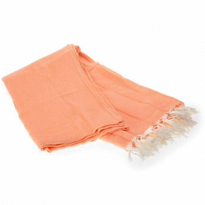 Conscience Marigold flower Papaya Punch Colour Soft Bath Towel / Organic Cotton - 1 Towel