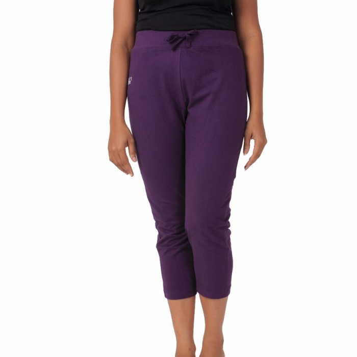Deivee - Blackberry Cordial Yoga Capri - Organic Cotton