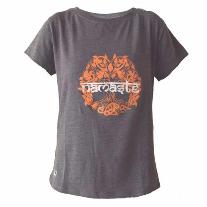 Deivee - Orange Namaste Logo Tee - Organic Cotton