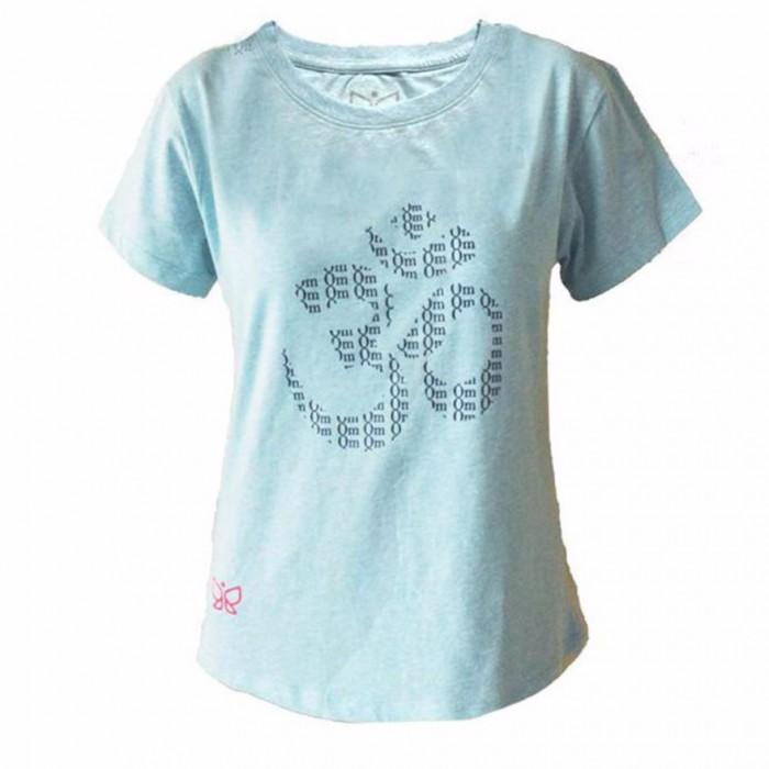 Deivee - Sky Blue OM Logo Tee - Organic Cotton