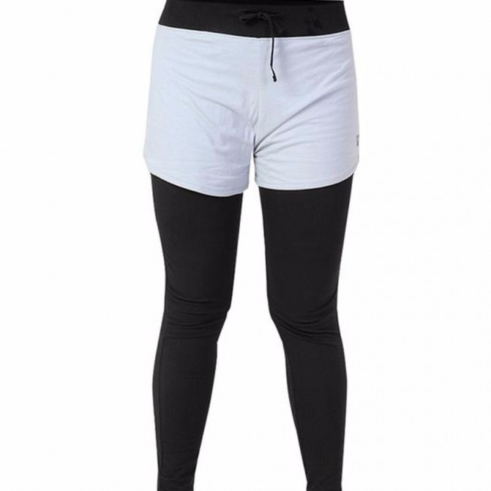 Deivee - Black & Grey Layered Tights with Shorts - Organic Cotton