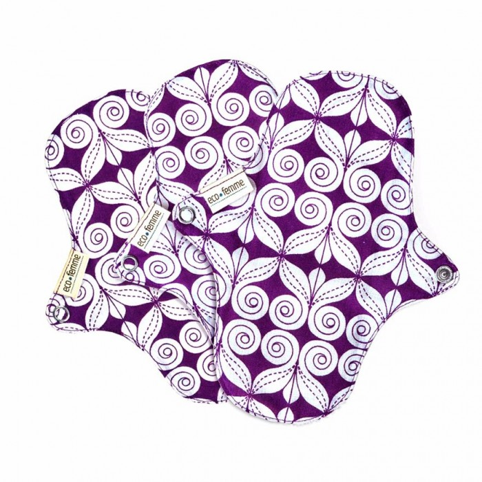 Eco Femme - GOTS Certified Pantyliners Without PUL - Natural Organic - Reusable Sanitary Pads / Cloth Menstrual Pads / Washable Cloth Pads