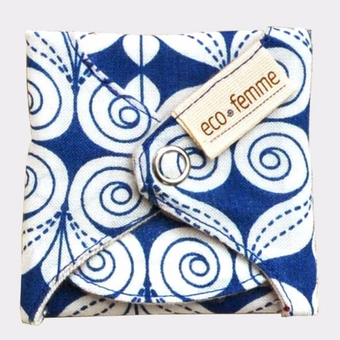 Eco Femme GOTS Certified Pantyliners (3 in a pack) - Natural Organic - Reusable Sanitary Pads / Cloth Menstrual Pads / Washable Cloth Pads