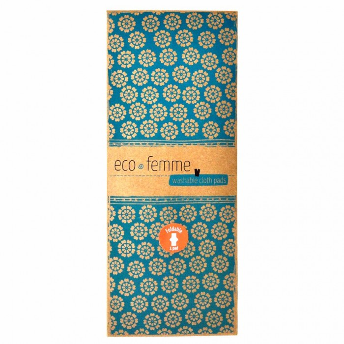Eco Femme - GOTS Certified - 1 Foldable Pad per pack - Reusable Sanitary Pads / Cloth Menstrual Pads / Washable Cloth Pads