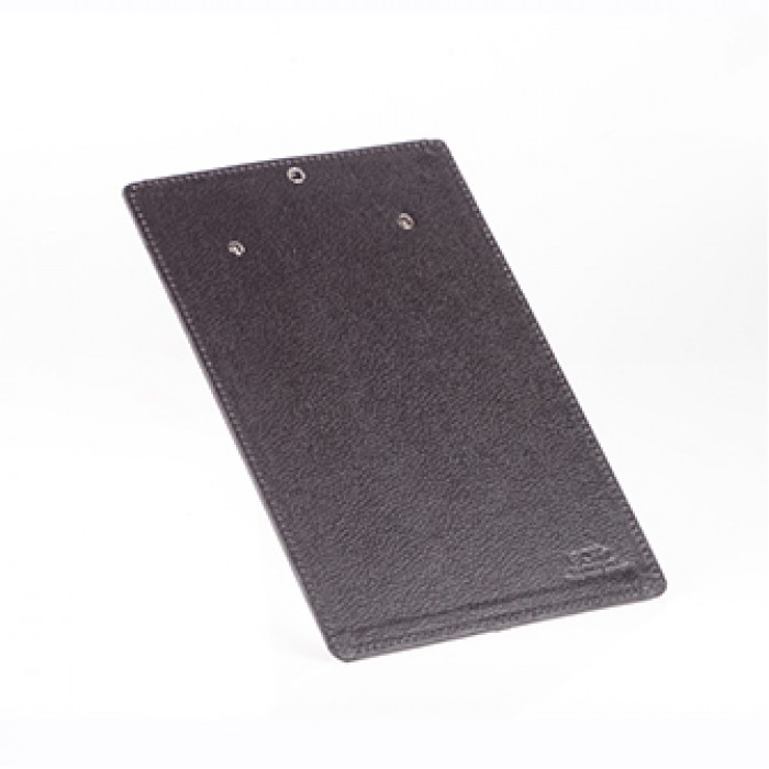 Eco Leatherette Handcrafted A-4 Clip Board-Black- Recycled Cotton