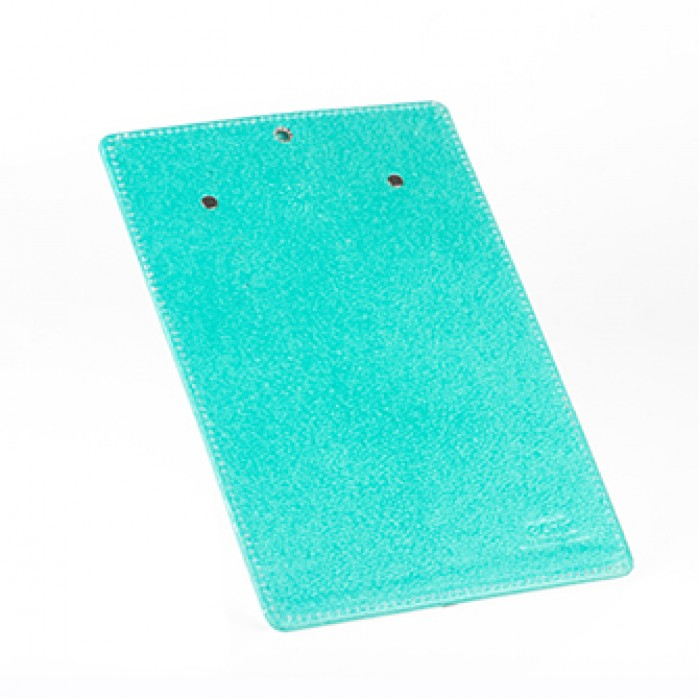 Eco Leatherette Handcrafted A-4 Clip Board-Green- Recycled Cotton