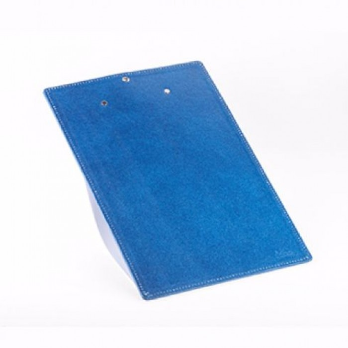 Eco Leatherette Handcrafted A-4 Clip Board-Blue- Recycled Cotton