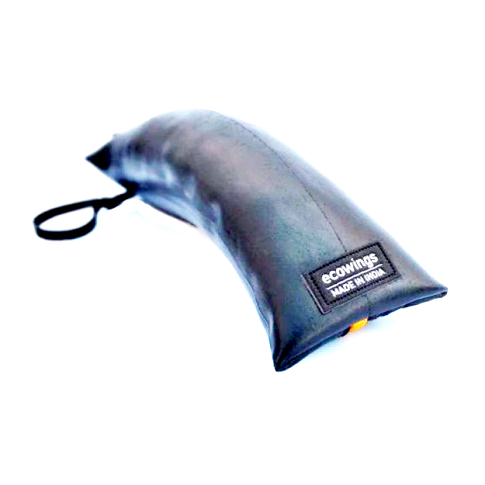 Ecowings Stationery Pouch-Boom Banana-Orange - Upcycled Tyre Tube