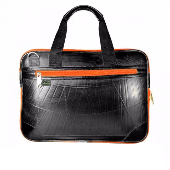 Ecowings Mac book case-Orange - Upcycled Tyre Tube